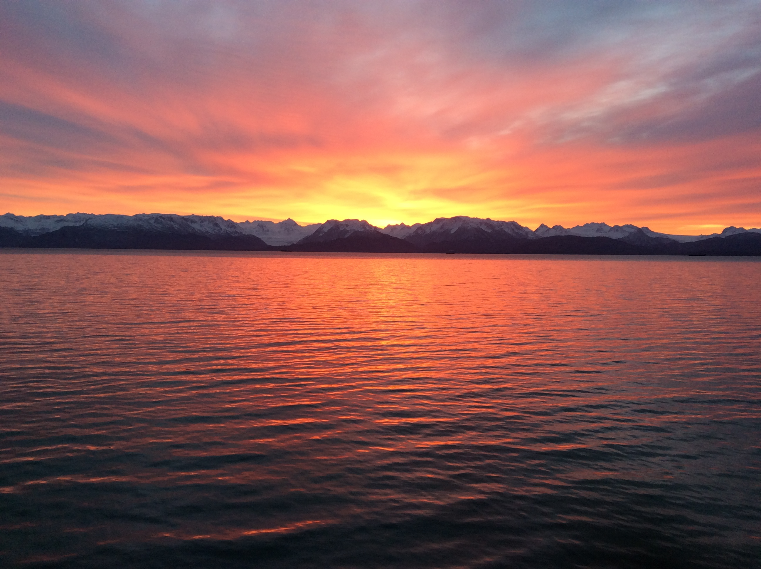 Spectacular Sunrise over Kachemak Bay
