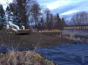 Developing Site #2 and #3 before Winter