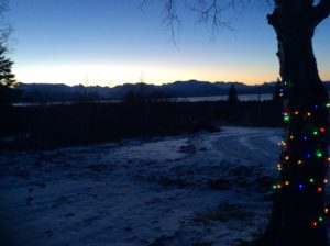 Looking over RV Site #3 this morning