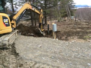 Extended the septic standpipe RV Site#2