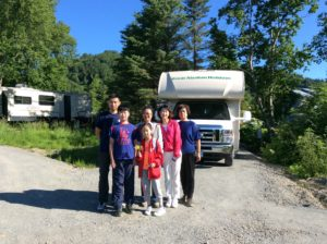 RV Site #3 welcomes the Hao Wu family from Taijin China