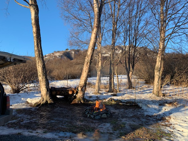 The fire circle at RV Site #2