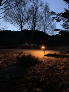 RV Site #2 power panel area light