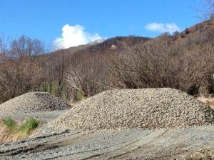 Foundation drain tile gravel work continues