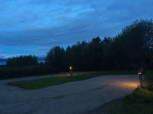 Lights on at RV Sites 1 and 4