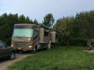 RV Site #1 is booked through July