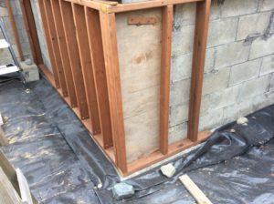 Block wall foundation reclamation progress….
