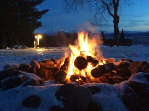 Nice night for a bonfire at RV Site #2
